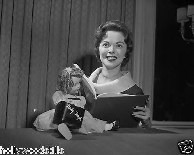 Shirley Temple reads next to her doll rare movie star 8x10 photo