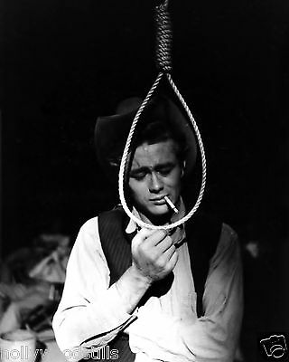 James Dean standing by a noose candid movie star rare 8x10 photo