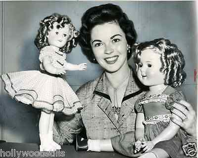 Shirley Temple with her dolls movie star 8x10 rare photo