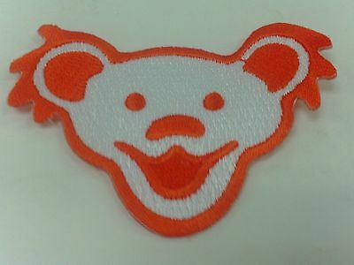Grateful Dead Embroidered Orange Jerry Bear Face Patch