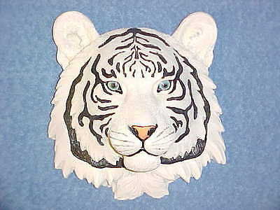 "8"" WHITE TIGER Head Wall Mount Safari Jungle Animals African Exotic Siberian"