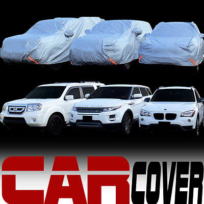 4 Layer Universal Water Proof 4600mm SUV Car Cover+Mirror Pocket & Warranty SB2
