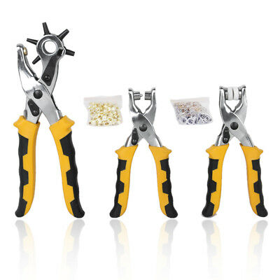 3 in1 Leather Belt Hole Punch + Eyelet Plier + Snap Button Setter Tool Kit