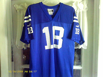"Indianapolis Colts ""PUMA"" Jersey (Peyton Manning #18) Youth Sz-X- Large (18-20)"