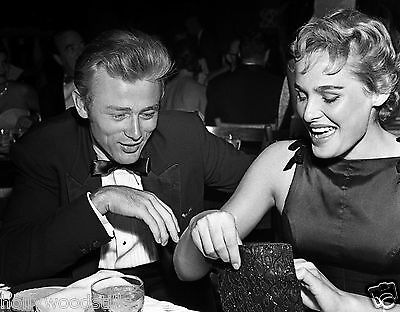 James Dean watches as Ursula Andress looks in her purse 8x10 rare photo