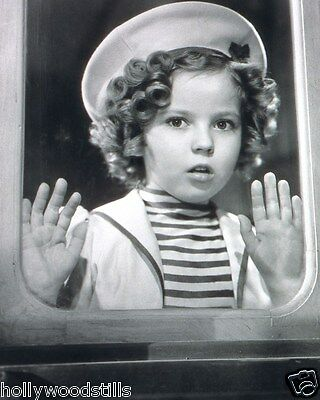 Shirley Temple with hands pressed against a window rare movie stars 8x10 photo