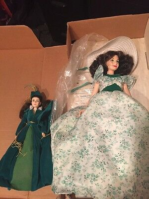 """Gone With the Wind Doll 19"""" BIG Scarlett World Doll Vintage BBQ head loose as is"""