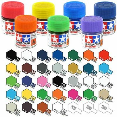 TAMIYA Acrylic Paint 10ml X-31 to X-35 Choose Colour - Model Paint Humbrol