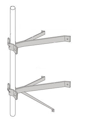 """ROHN WM18D Double Wall Mount with 18"""" Stand Off - Masts 7/8"""" to 2-3/4"""" OD"""