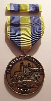 1898 U.S. Marine Corps Spanish Campaign Medal with RIBBON