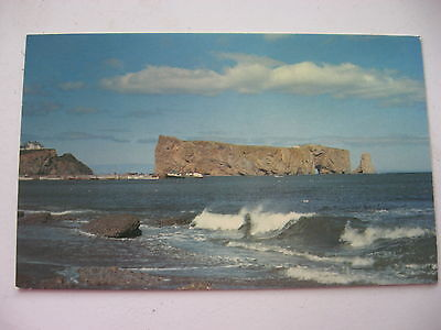 1967 vintage postcard Perce Rock Le Rocher Perce Quebec Canada La Gaspesie