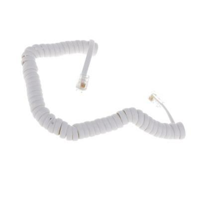 5.7ft White Telephone Handset Phone Extension Cord Curly Line Cable RJ11