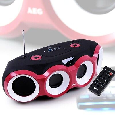 Bluetooth Boombox Stereo Musik Anlage CD MP3 Player Radio USB AUX AEG SR 4364 BT