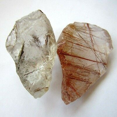 Natural red hair black tourmaline/green ghost  quartz crystal original stone