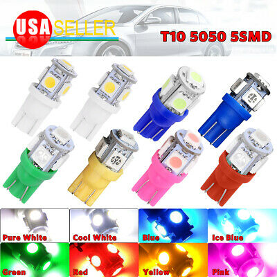 1 4 20 100PCS T10 Wedge 5050 5SMD License Plate Tag Door Interior LED Light bulb