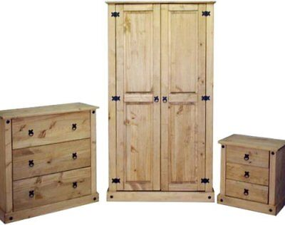 Mercers Furniture® Corona Mexican Solid Pine 3 piece bedroom furniture package