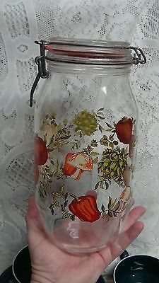 CORELLE 10'' SPICE LIFE CANNING 2 L NEW SEAL JAR CANISTER LOCK LID LG  # 1