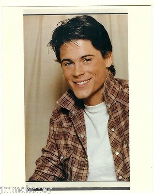 ROB LOWE Handsome 19 Years Old ORIGINAL 1983 THE OUTSIDERS Color Portrait Photo