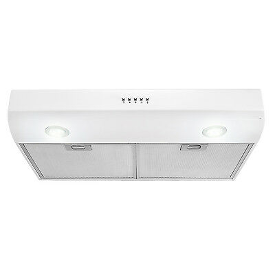 "New 30"" Under Cabinet Kitchen Range Hood Stainless Steel White Color"