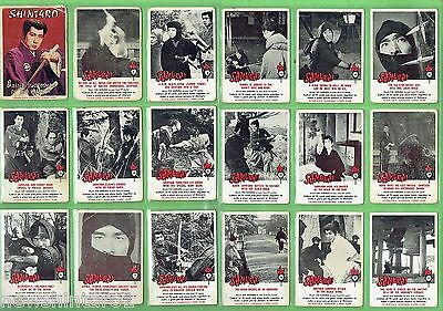 #ll.  Set Of 1964 Scanlens Shintaro The Samurai Bubblegum Cards