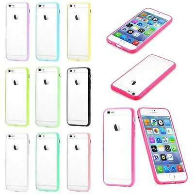 Custodia Bumper Cover Case TPU Per Apple iPhone 6 4.7 5 5S 4 4S Transparent Back