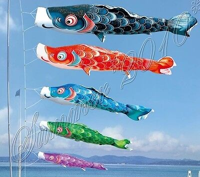 Large koi nobori carp wind sock red koinobori fish kite for Koi fish kite
