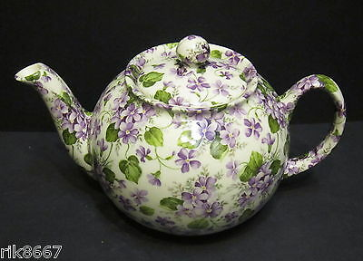 1 Heron Cross Pottery VIOLET Chintz English 3 Cup Tea Pot or 2 mugs