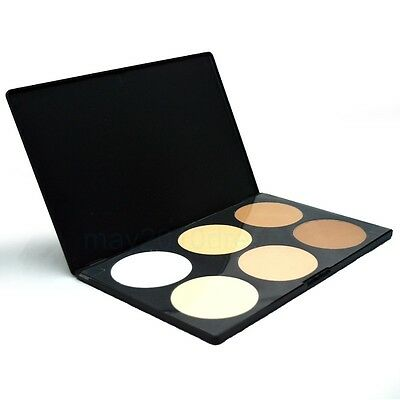 Professional Salon/Party 6 Colors Contour Face Cream Makeup Concealer Palette