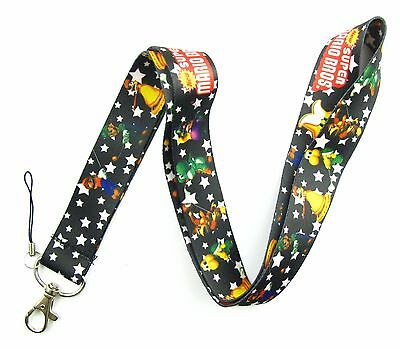 New 10Pcs Super Mario Bros Mobile Cell Phone Lanyard Neck Straps Party Gifts Q63
