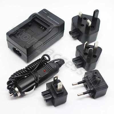 AC/DC Wall+Car Digital Camera Charger Adapter For Canon BP-511 BP-511A Battery