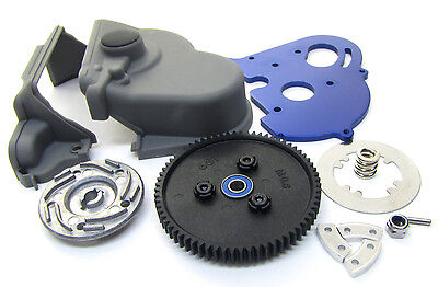 E-MAXX Brushless SPUR GEAR & MOTOR MOUNT, cover slipper clutch TQI  Traxxas 3908