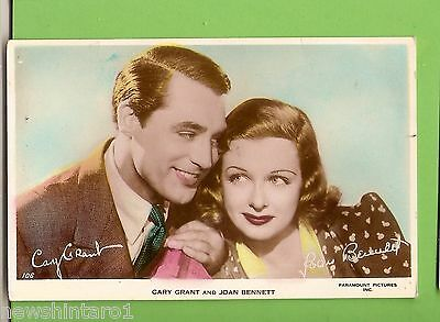 #F.  Movie Fan  Postcard -  Cary Grant & Joan Bennett
