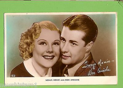 #F.  Movie Fan  Postcard -  Sonja Henie & Don Ameche