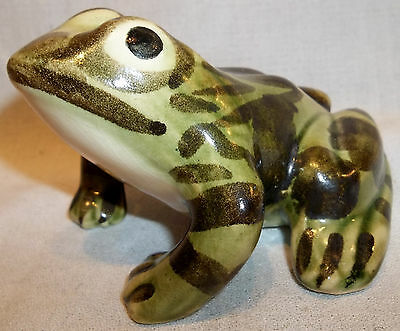 """Brush McCoy Pottery 4"""" Lawn Ornament Ceramic Frog Closed Mouth XLNT COND."""