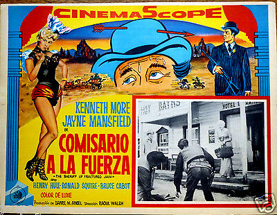 JAYNE MANSFIELD Lobby Card THE SHERIFF OF FRACTURED JAW KENNETH MORE HENRY HULL