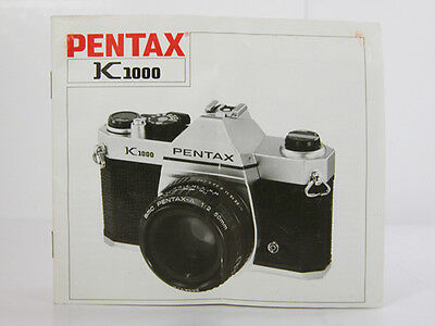 PENTAX K-1000 INSTRUCTION MANUAL Original Factory Manual K1000