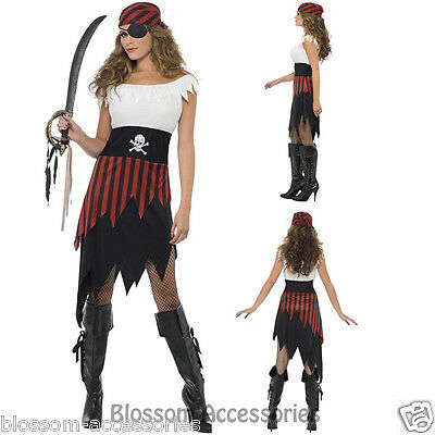 CL362 Ladies Pirate Wench Caribbean Buccaneer Beauty Fancy Dress Party Costume