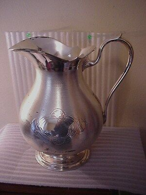 Christofle of Paris France Huge Fancy Silverplated Serving Pitcher  / NR