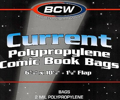 50 BCW Assembled Current Comic Bags and Boards