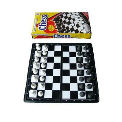 Mini Travel Magnetic Compact Chess Board Game And Pieces - Folds Away
