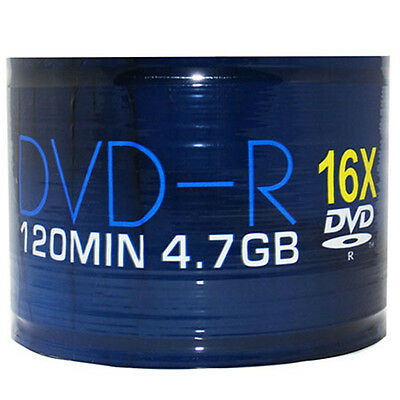 50x Aone DVD-R 16x 4.7GB 120min Full-Face Inkjet Printable Discs - Spindle Pack