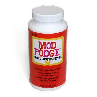 16oz MOD PODGE GLOSS FINISH GLUE ADHESIVE SEALER DECOUPAGE CRAFT NON TOXIC