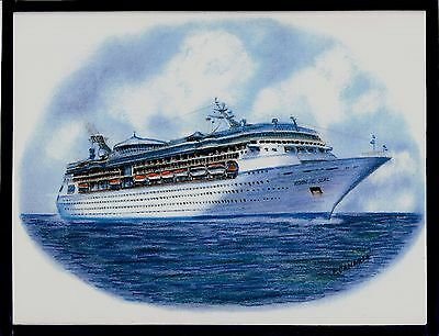 Original Art Work ...ms VISION of the SEAS ...cruise ship... RCI