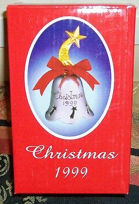 Christmas Silver Plated Engraved Bell 1999 International Silver Company