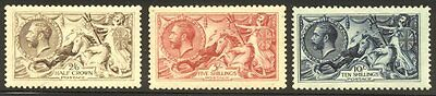 GREAT BRITAIN #173-75 Mint - 1913 Britannia Set