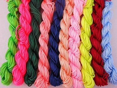 New 1mm*26m Nylon Cord Thread Chinese Knot Macrame Bracelet Braided String Knit