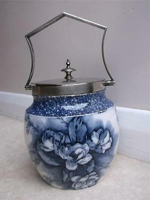 448/ EARLY 20TH CENTURY CARLTON WARE POTTERY BISCUIT BARREL