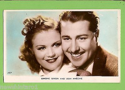 #F.  Movie Fan  Postcard -  Simone Simon & Don Ameche