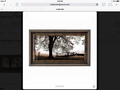 # Lone Tree Print Wood Hand Painted Western Plaque Home Interiors & Gifts