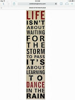 # Dance In The Rain Plaque Hand Painted Western Plaque Home Interiors & Gifts